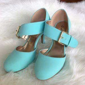 Qupid Heels in soft Blue NWOT